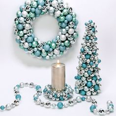 ~ Tiffany Blue & Silver Holiday Decorations ~