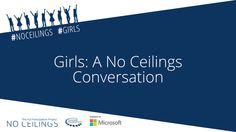 Today, 3pm EST - Tune in to Girls: A No Ceilings Conversation with Secretary Clinton, Chelsea Clinton & moderated by America Ferrerra!