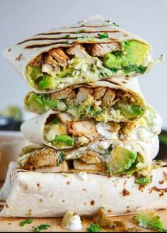 Grilled Chicken & Avocado Wraps : Now online order #chicken #grilledcheese #richmond #Delivery #delicious