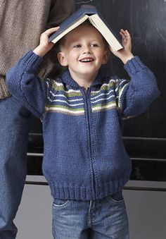 Free Pattern - Patons Canadiana - Child Raglan Sleeve Jacket (knit)