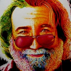 Jerry Garcia of the Grateful Dead. Done by Awesome artist Justin McAllister. His medium of choice is Sharpie Markers. How cool is that?!?!