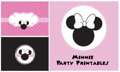 Get free Minnie Mouse free printables to decorate you kids birthday party!