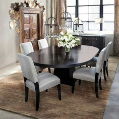 Oval Dining Tables On Pinterest Oval Table White Side