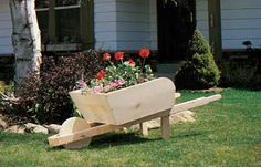 Download the instructions for this darling Wheelbarrow Planter