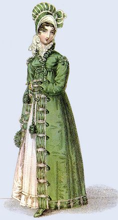 1817 Walking Dress & Pelisse