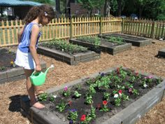 Every child should have the opportunity to play in the dirt, plant a seed, and grow a garden