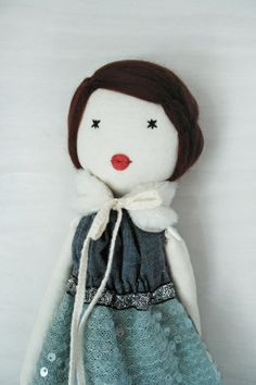 Cloth doll Rag doll handmade retro one of a by lespetitesmainsS