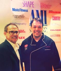Chef Anthony Russo and Scott Treadaway at Men's Fitness. LIVE FROM NEW YORK.