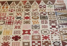 Dear Jane quilt by Nancy, posted by Anne Sutton at Bunny Hill.  A 4-year project. Hand quilted by an Amish Quilter.