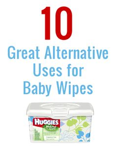 alternative uses for baby wipes