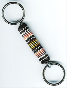 Black Beaded Keychain