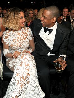Can you feel the love?! Beyonce and Jay Z lovingly look at each other at the Grammy Awards