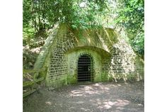 In the shade:  The ice house in the grounds of Rufford Abbey - a great example of the thermal properties of earth-sheltered housing from antiquity