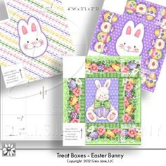 Printable Easter Bakery Boxes - Gina Jane Designs - DAISIE Company