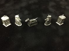 Pewter Doctor Who Monopoly Pieces