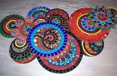 mosaic mosaic coaster, mosaic table circle, front porch, art, mosaic spiral, mosaic tables, quilt idea, table mosaic, mosaic circl