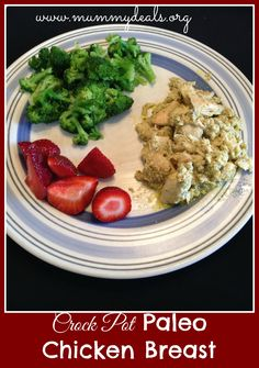 Crock Pot Paleo Chicken Breast is a yummy simple crock pot recipe to help you eat healthy and quick!