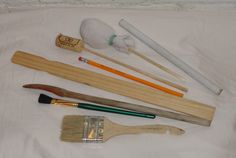 You can pound drums with chopsticks, unsharpened pencils (either end), sticks with wine corks glued onto the end, paint brushes, dowels from dry cleaning hangers, paint mixing sticks, or your hands!