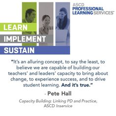 In this Inservice post, learn how capacity-building #profdev can increase teachers' and leaders' ability to experience success and drive student learning. #teaching #edadmin