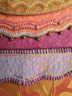 stitched and beaded edgings
