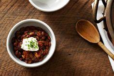Slightly Smoky Mixed-Bean Chili on Food52: http://f52.co/1ebbZ5u #Food52