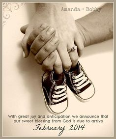 Shoe pregnany announcement