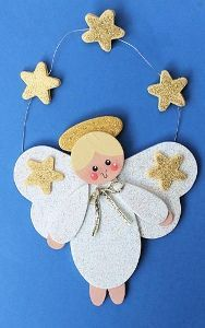 Gold Stars Angel Ornament this is cute
