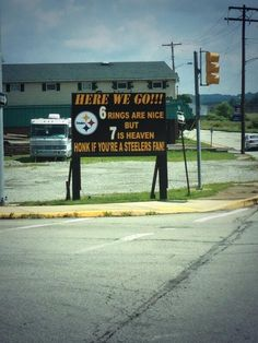 PITTSBURGH STEELERS~SIGN.