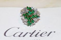 Vintage CARTIER Emerald & Diamond Ring