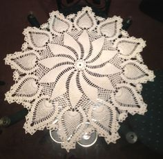 Pinwheel and pineapple doily