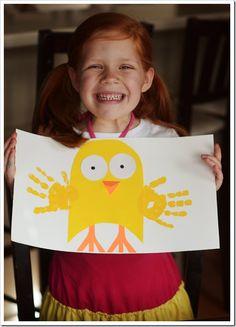 Easter handprint art