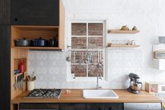 small kitchens, tile, kitchen interior, modern kitchens, kitchen shelving, hearth, kitchen cabinets