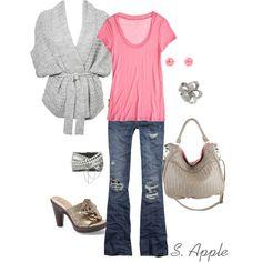 sapple324, fashion, wrap sweater, color combos, heel