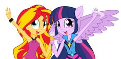 Sunset and Twi by Xsecretgirl.deviantart.com on @DeviantART