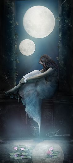 ...When two moons rise... by ~iluviar on deviantART