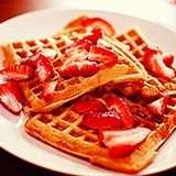 strawberries and waffle