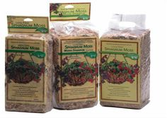 Luster Leaf Long Fiber Sphagnum Moss-Line the bottom and sides of pots with this moss. It helps to retain moisture and nutrients.