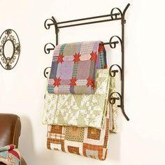 Scrolled Metal Quilt Rack