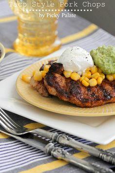 Taco Style Pork Chops by @Jenny Flake, Picky Palate