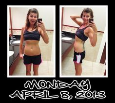 Day 8 of my 30 Day Ab Challenge. After 1 full week, my tummy feels noticeably tighter, and I am feeling great!