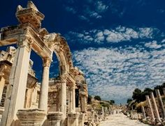 The main walkway through the largest outdoor excavation 'musuem' #Ephesus, #Turkey.# archaeologous.com leads private guided tours of Ephesus and Kusadasi.