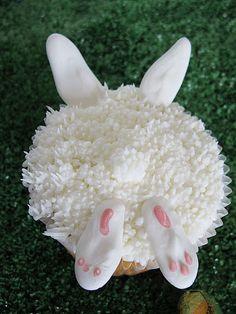 Bunny Bottom Cupcakes Tutorial