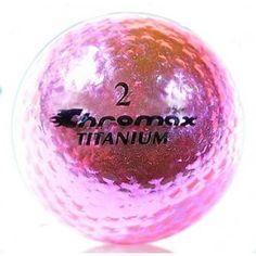 Chromax Metallic Pink Ladies Golf Balls - Pack of 6 Golf Balls