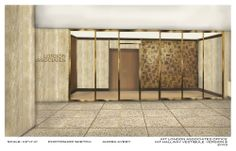 Exterior Illustration of London Associates 1: Illustration of the exterior of London Associates set for Columbia Pictures' AMERICAN HUSTLE.  Production Design by Judy Becker Photo by:  Illustration by Audra Avery