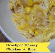 Crockpot Cheesy Chicken & Rice - HowToInstructions.Us