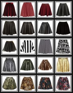 Crafty Lady Abby: FASHION TRENDS: Skater Skirts