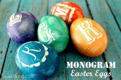 Monogram Easter Eggs...looks easy.
