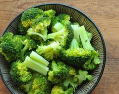 How to trim and steam fresh broccoli, then dress in different ways that are 'never the same'.