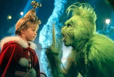 Dr. Seuss' How The Grinch Stole Christmas - Taylor Momsen as Cindy-Lou Who, Jim Carrey as the Grinch