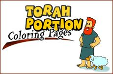 Great resource!  Dozens of free printable Jewish coloring pages for weekly Torah portion (Parsha), and holidays.